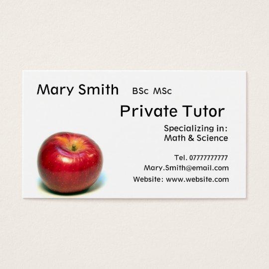 Teacher Private Tutor Business Cards & Templates | Zazzle