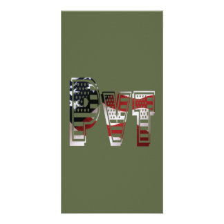 Private USA Military Army Green American Pvt Card