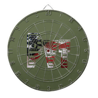 Private USA Military Army Green American Pvt Dartboard