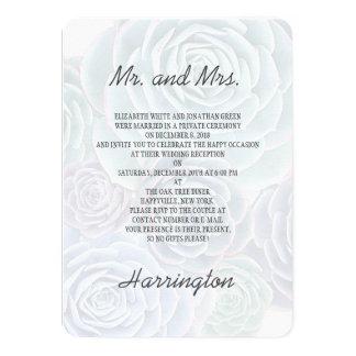 Private Wedding Reception Succulents Invitation