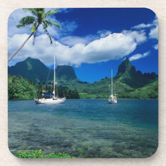 Private yachts anchored in Opunohu Bay on the Beverage Coaster