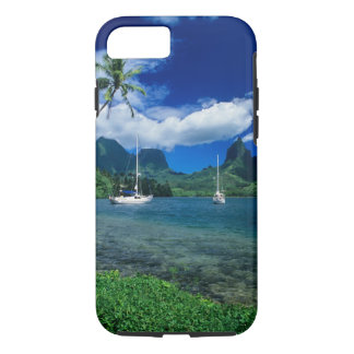 Private yachts anchored in Opunohu Bay on the iPhone 7 Case