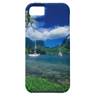 Private yachts anchored in Opunohu Bay on the iPhone SE/5/5s Case