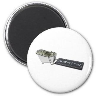 PrivateBath101610 2 Inch Round Magnet