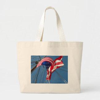Privateer flag large tote bag