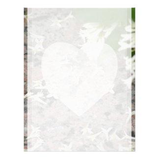 Privet Blossoms on Granite Letterhead