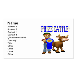 Prize Cattle Double-Sided Standard Business Cards (Pack Of 100)