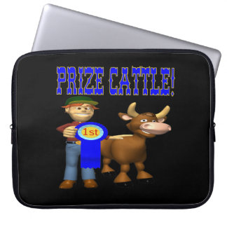 Prize Cattle Laptop Computer Sleeves