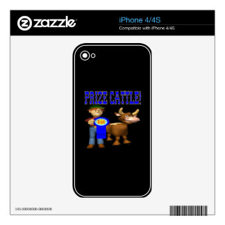 Prize Cattle Decals For iPhone 4S