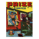 PRIZE COMICS Cool Vintage Comic Book Cover Art Post Card
