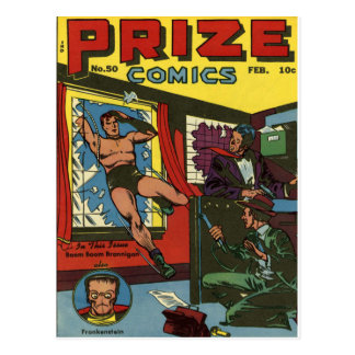 PRIZE COMICS Cool Vintage Comic Book Cover Art Postcard