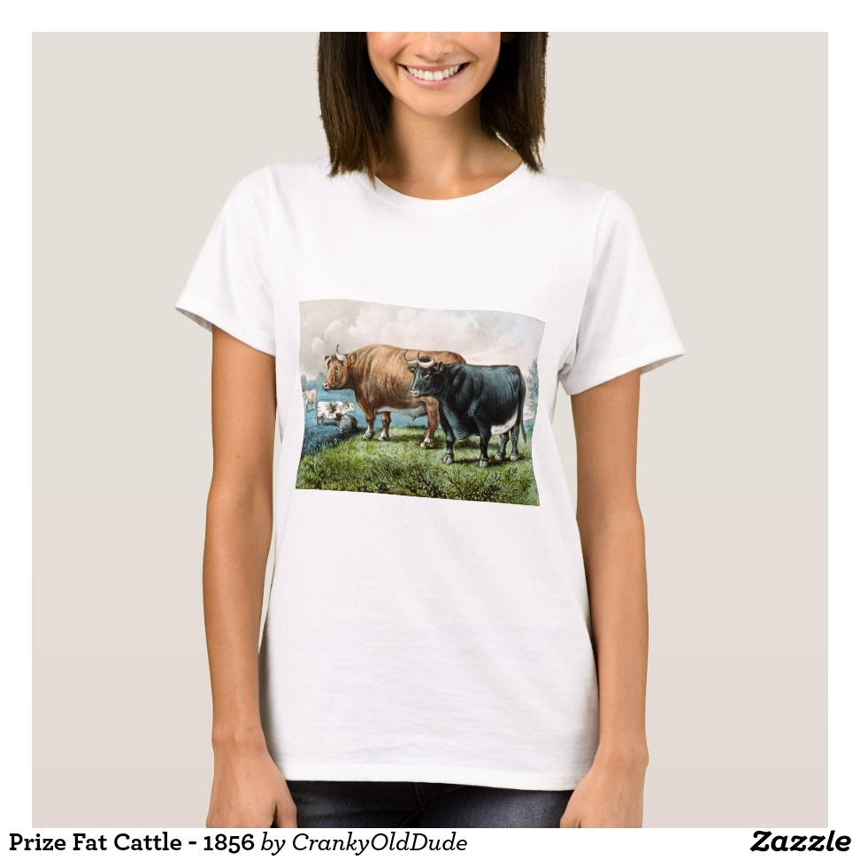 Prize Fat Cattle - 1856 T-Shirt - Best Selling Long-Sleeve Street Fashion Shirt Designs