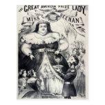 Prize Fat Lady Postcard