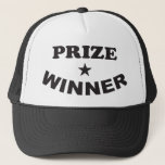"""Prize Winner Trucker Baseball Cap Hat<br><div class=""""desc"""">It&#39;s not quite a million dollars,  but this consolation style prize winner cap is still pretty awesome!  Baseball/Trucker Hat with Custom Prize Winner Design</div>"""