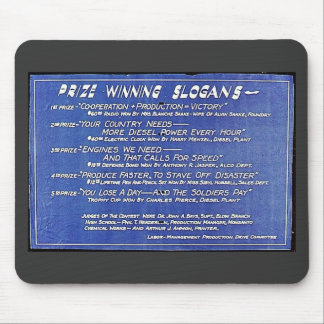 Prize Winning Slogans Mouse Pad
