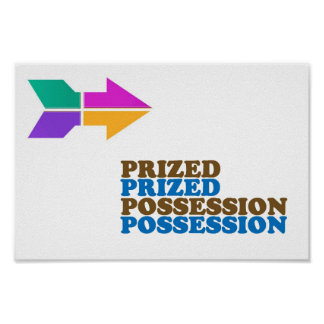 PRIZED POSSESSION WISDOM Lowprice RELATE 2 WORDS Poster