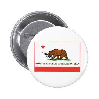 PRK- república popular de Kalifornistan Pin Redondo De 2 Pulgadas
