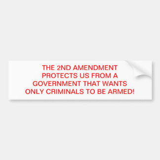 PRO 2ND AMENDMENT BUMPER STICKER