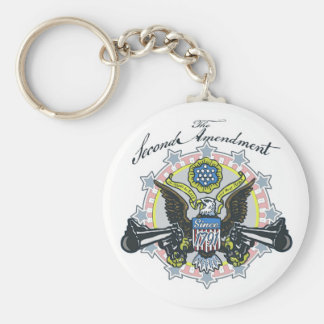 Pro 2nd Amendment Gun-Toting Eagle Gear Basic Round Button Keychain