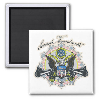 Pro 2nd Amendment Gun-Toting Eagle Gear Magnet