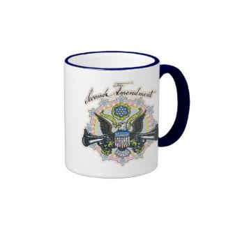 Pro 2nd Amendment Gun-Toting Eagle Gear Ringer Mug