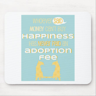 Pro-Adoption Shirt - Cat - Blue and Yellow Mouse Pad