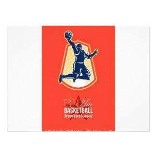 Pro Am Basketball Invitational Retro Poster Personalized Invitations