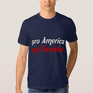 Pro America Anti Socialist Tee Shirt
