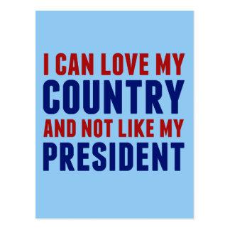 Pro America Anti Trump Postcard