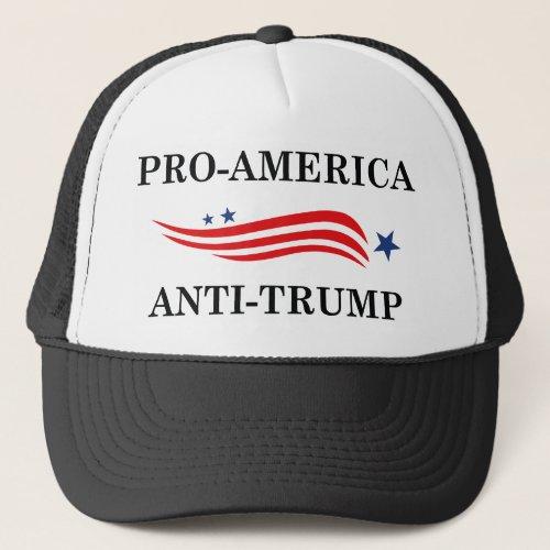 Pro_America Anti_Trump Trucker Hat