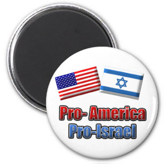 Pro-America/Israel 2 Inch Round Magnet