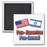 Pro-America/Israel 2 Inch Square Magnet