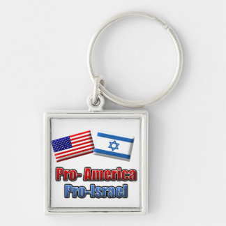 Pro-America/Israel Key Chain