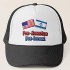 Pro-America/Israel Trucker Hat