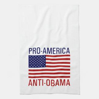 PRO-AMERICAN ANTI-OBAMA HAND TOWEL