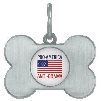 PRO-AMERICAN ANTI-OBAMA PET TAG