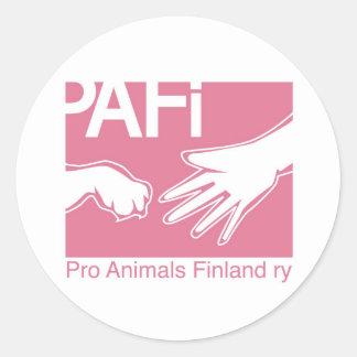 Pro Animals Finland Logo Classic Round Sticker