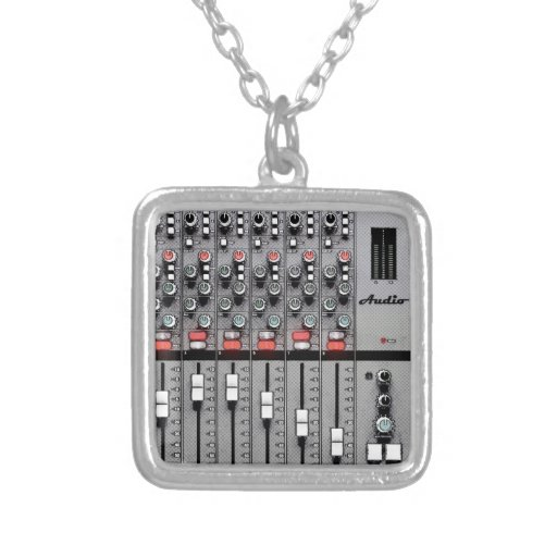 Pro Audio Mixer Personalized Necklace