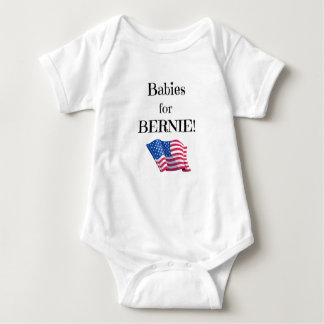 Pro Bernie message from babies! Baby Bodysuit