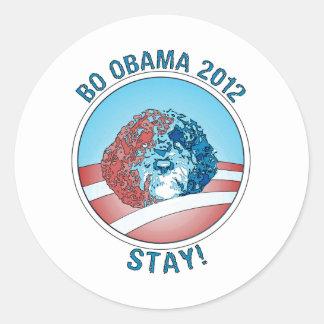 Pro-Bo Obama Dog 2012 Classic Round Sticker