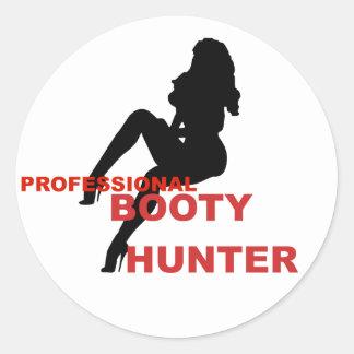 Pro Booty Hunter Classic Round Sticker