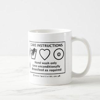 Pro Breastfeeding Care Instructions Mug
