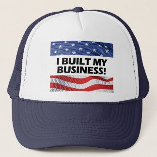 Pro-Capitalism, I Built My Business, Anti-Obama Trucker Hat