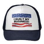 Pro-Capitalism, I Built My Business, Anti-Obama Trucker Hat