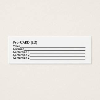 Pro-CARD (LD) Mini Business Card
