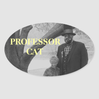 PRO CAT STICK WITH SON OVAL STICKER