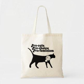 Pro Cats pro Choice pro Feminism Budget Tote Bag