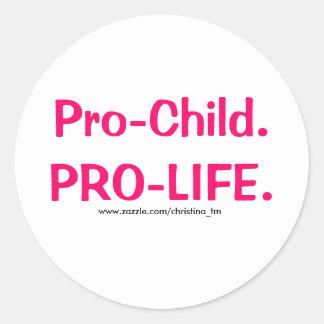 Pro-Child Classic Round Sticker