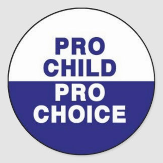 Pro child pro choice classic round sticker
