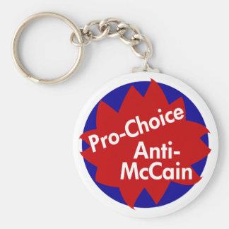 Pro-Choice, Anti-McCain Key Chain